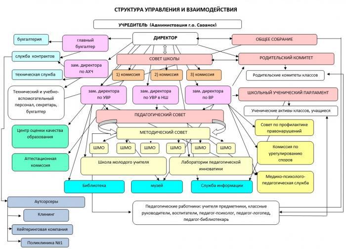 Структура управления образовательной организацией