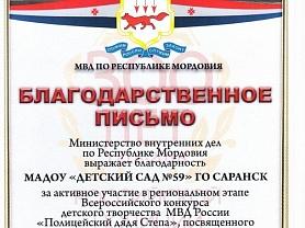 Всероссийский конкурс МВД «Полицейский Дядя Стёпа»