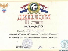Финал первенства РМ по футболу среди детей