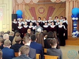 Замечательный концерт ветеранов сцены клуба им. Ухтомского для учеников нашей школы