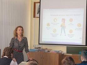 Встреча учащихся 9А класса с Хозяйкиной Ольгой Николаевной, ведущим экономистом отдела Отделения Национального банка Республики Мордовия