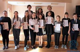 """Поздравляем учеников школы с успешным выступлением на Городской теоретической олимпиаде """"Юный музыковед""""!"""