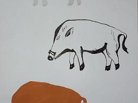Стилизация животных, графика
