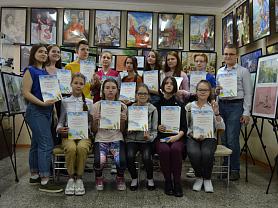 Награждение победителей в ежегодном школьном пленэре!