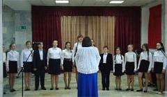 Группа среднего хора (преподаватель Горбунова Н. И.)