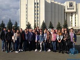 Ранним утром 9 сентября гимназисты 8-10-х классов встретили делегацию городов Стендаля и Тангенмюрде