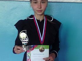 1 место Сабаева Ирина, районные соревнования по бегу на приз ГЛАВЫ Ельниковского муниципального района