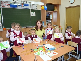 """Мастер-класс преподавателей  """"Детской художественной школы №4"""" для учеников общеобразовательной школы № 25."""