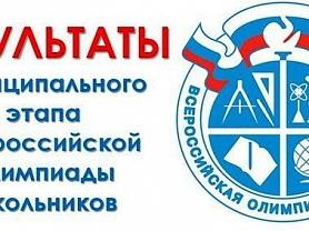 Победители и призеры муниципального этапа Всероссийской олимпиады по русскому языку.