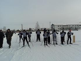 Открытие зимнего сезона 2018 год. Районные соревнования по лыжным гонкам.