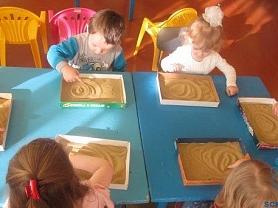 открытое занятие по рисованию в младшей группе с использованием нетрадиционных техник рисования