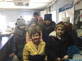 19 февраля учащиеся 5 класса побывали на экскурсии в почтовом отделении связи.