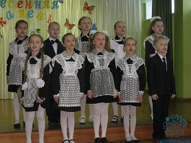 """3 марта был проведен концерт """"Мартовская капель"""" среди учащихся начальной школы."""