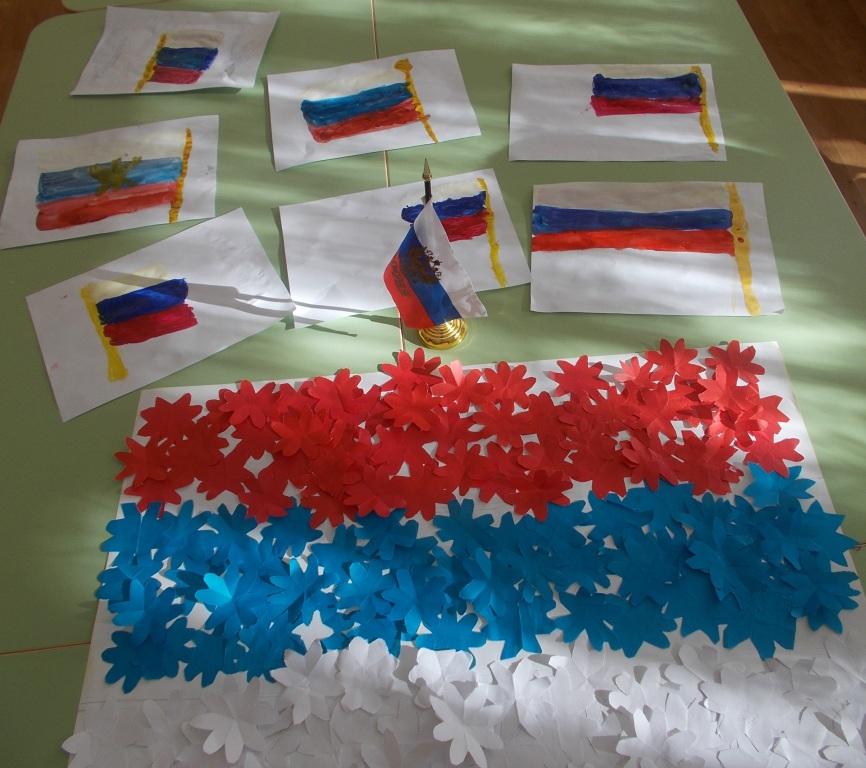 Поделки российский флаг своими руками