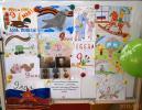 К праздничному мероприятию была оформлена выставка рисунков