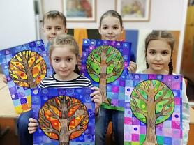 Рисуем сказочное дерево