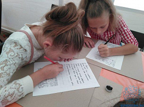 """Наши учащиеся - участники фестиваля """"Я лиру посвятил""""."""
