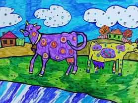 Разноцветные коровки