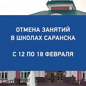 Отмена занятий с 12 по 18 февраля в школах Саранска