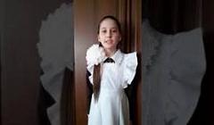 """Конкурс чтецов """"Помнит сердце, не забудет никогда!"""" Муравьева Софья, 4 класс"""