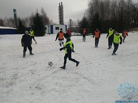 Новогодний турнир по мини - футболу на снегу