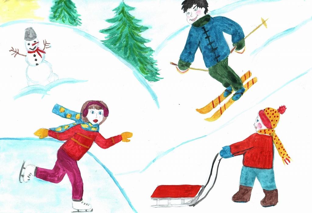 когда-нибудь рисунок зима зимние забавы исполнитель