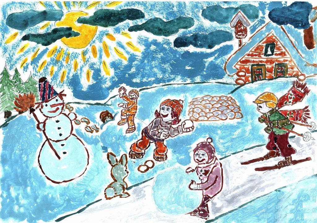 еще рисунок зима зимние забавы конце концов