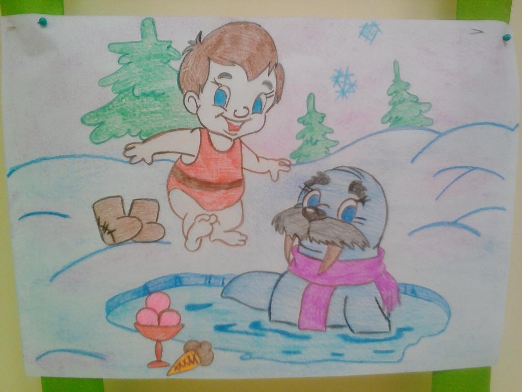Детские рисунки на тему здоровья в детском саду