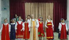 Школьный ансамбль под руководством преподавателя Марсовой А. А.