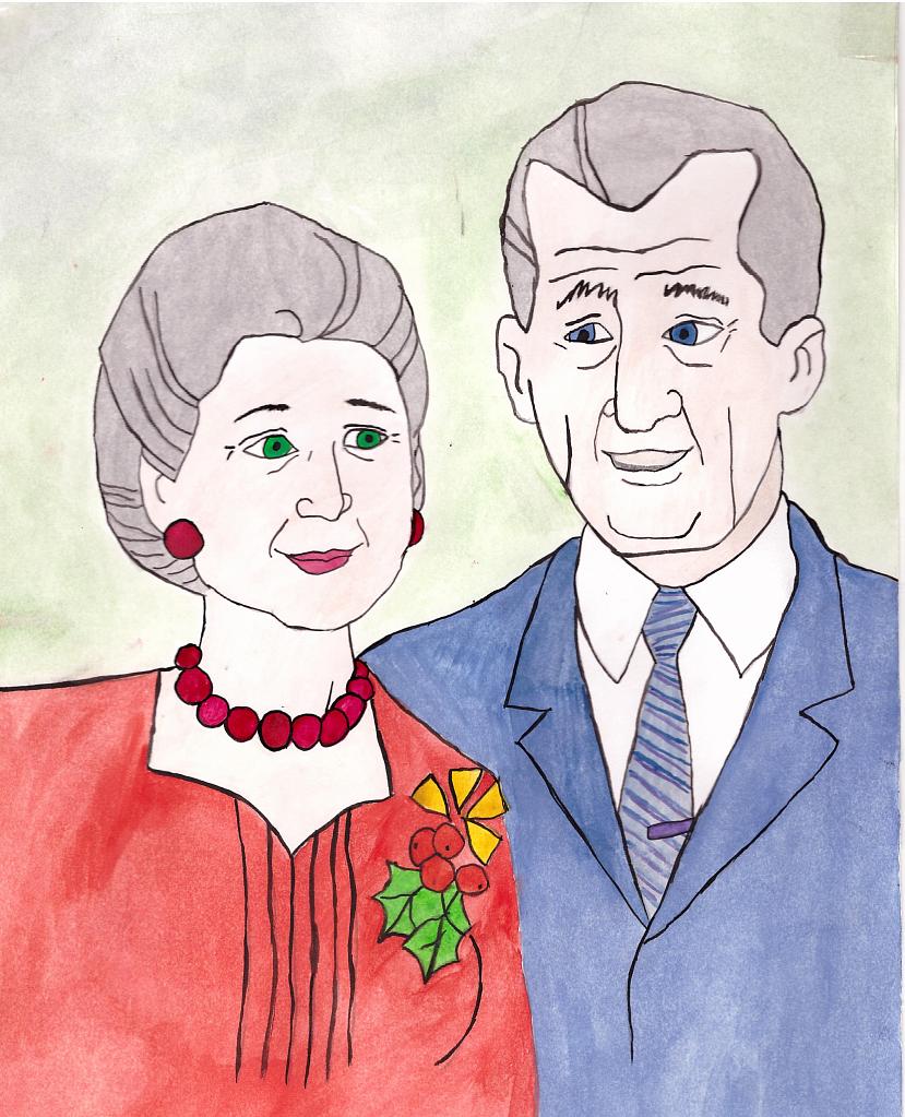 Года, рисунок ко дню пожилого человека 3 класс