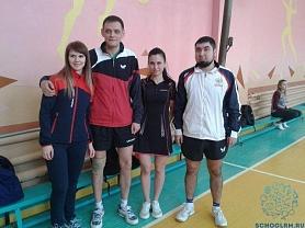 Спартакиада работников образования, районные соревнования- настольный теннис